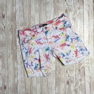 Levi's Paint Splattered Midi Shorts